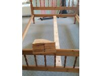 Double Solid Pine Bed Frame and Memory Foam Matress