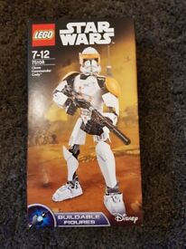Lego Star Wars buildable figure Clone Commander Cody unopened