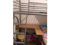 Immaculate bunk bed with desk