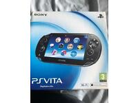 Mint condition ps vita+16gb card+ box with all inserts and cables+ case+ Charing dock
