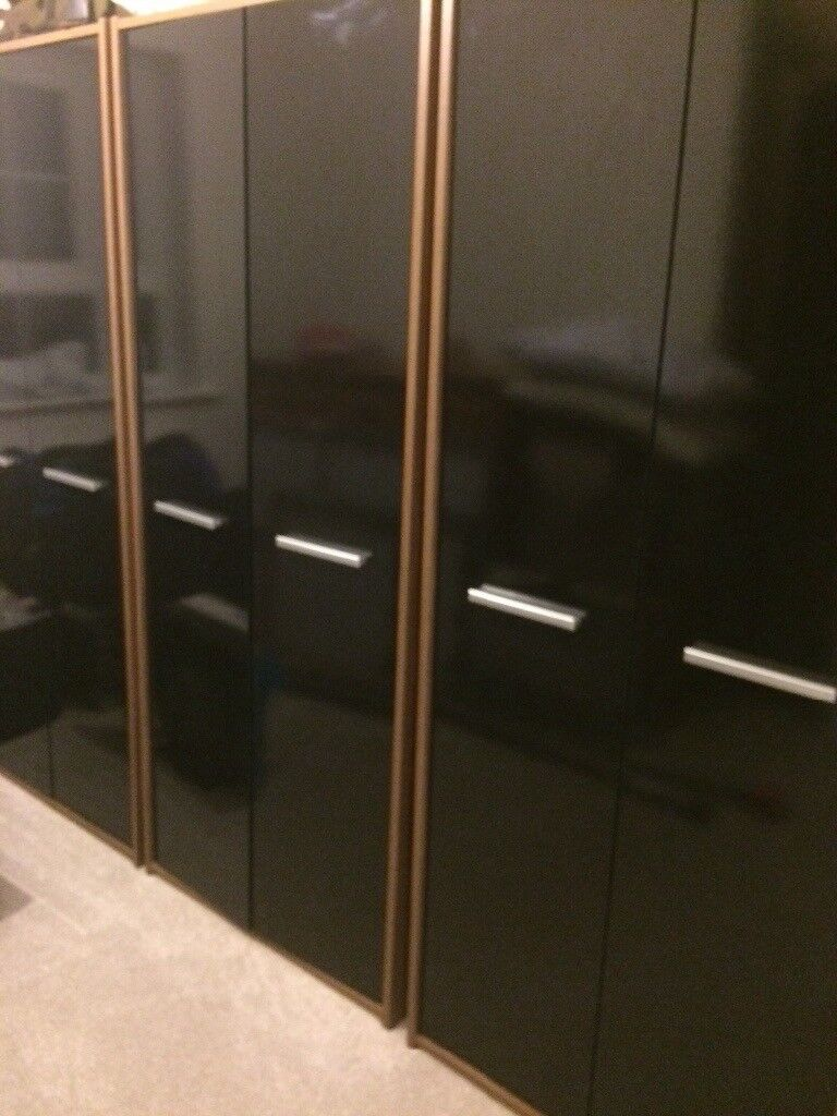 Black contemporary wardrobes