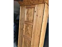 Carved Fairy or Rock Star pine furniture