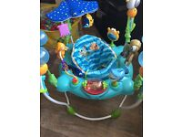 Disney jumperoo 3 months old, bought at christmas
