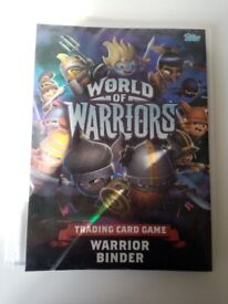 World of Warriors Trading Card Game Warrior Binder include 155+ cards (16 cards is shiny)