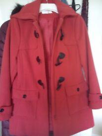 Ladies Red Duffle Coat 12