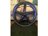 Carbon five spoke track wheel