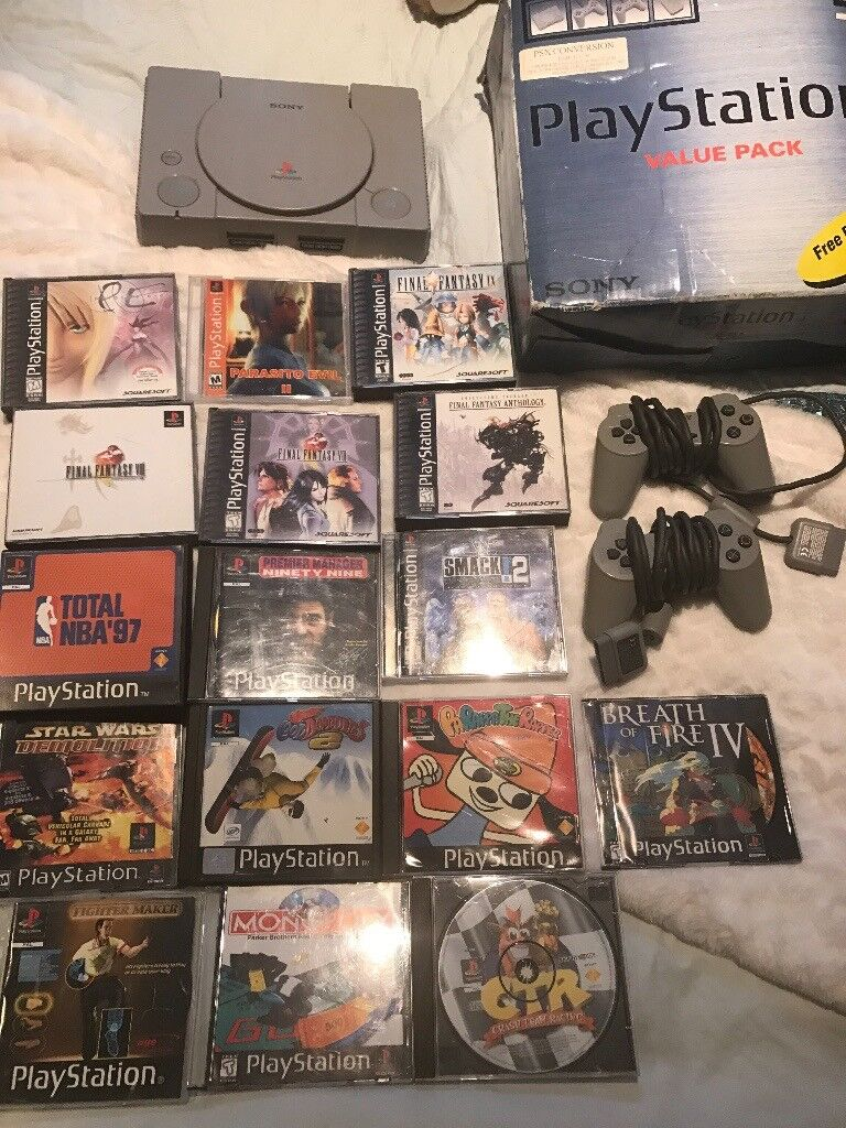 Sony playstation 1 console with games great christmas gift in sony playstation 1 console with games great christmas gift negle Image collections