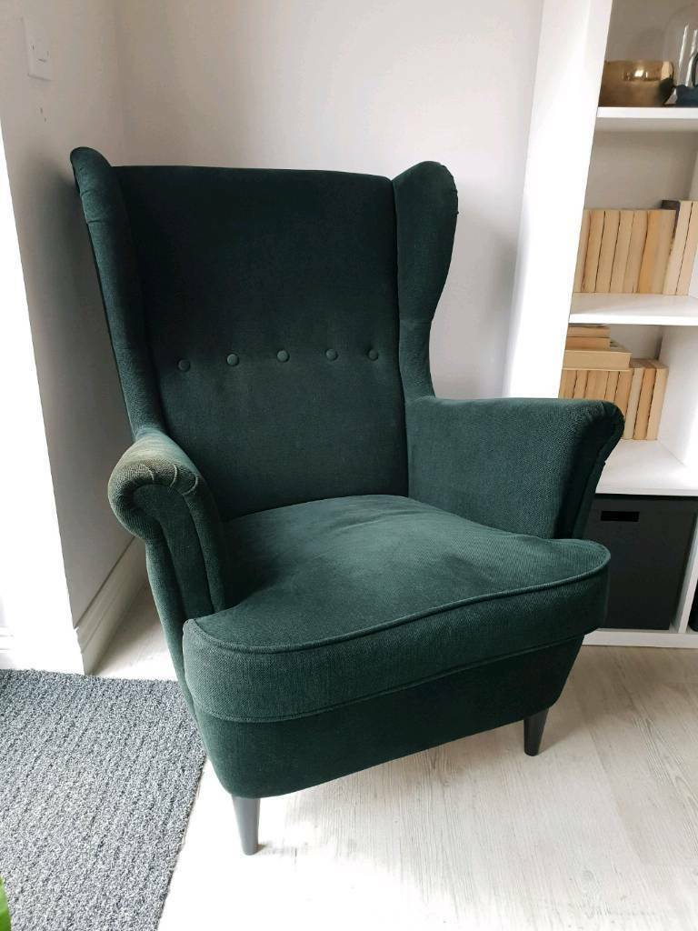 Ikea Strandmon Armchair Dark Green In Bridgwater