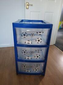 Boys football storage drawers