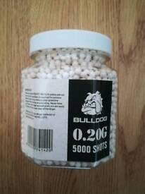 Bulldog 0.20g bb pellets x 5000 new Airsoft
