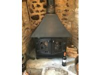 YEOMAN COUNTY High Canopy Woodburner
