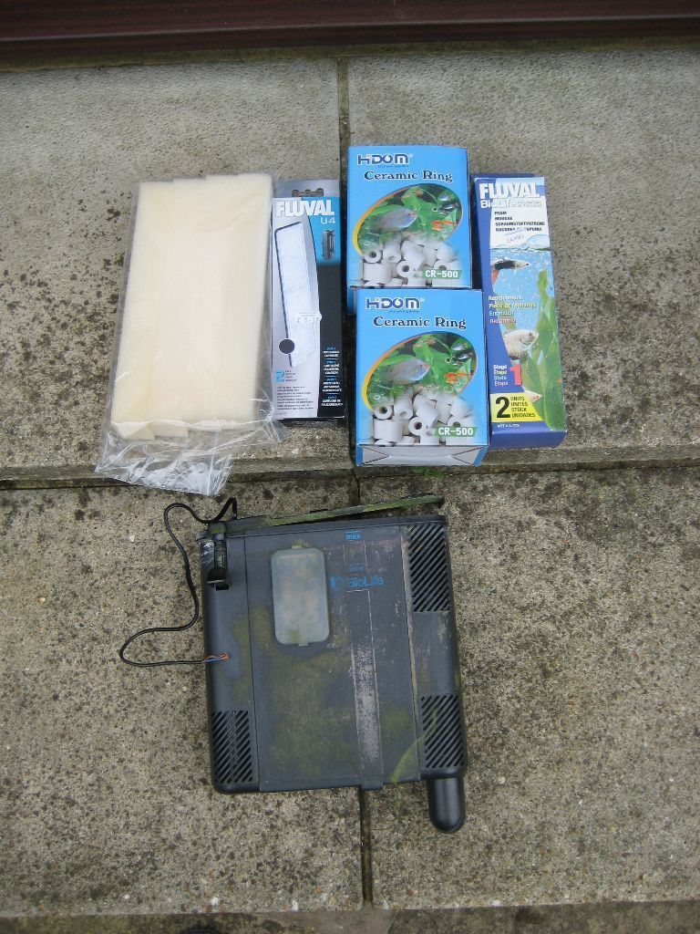 Fish tank bio life filter unit and selection of new fluval for Fluval fish tank filter