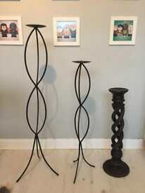Floor standing candle stands/holders