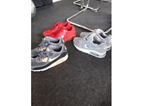 Nike Air Max trainers and Nike running trainers