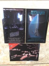 25 x Star Wars foil art pictures A5 size