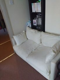 Cream two seater sofa be for sale