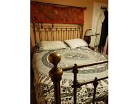 Kingsize brass bed frame surround