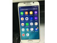 Samsung Galaxy S6 SM-G920F - 32GB - White Unlocked Mobile Phone WORKING