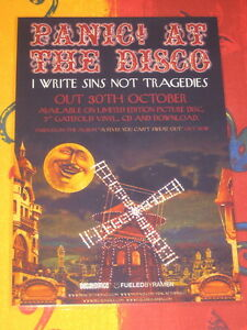 PANIC! AT THE DISCO - I WRITE SINS NOT TRAGEDIES -  LAMINATED PROMO  POSTER