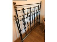 Brass and wrought iron double bed surround great condition