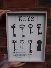 Key holder, wall hanging, NEW, duplicate present