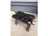 Hardwood Camel Stool , great stool must be seen..... Size L 28in W 14in H 18in.