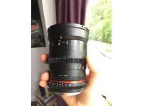 Samyang 35MM 1.5 cine lens - Canon mount