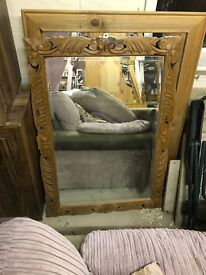 Large Hand-carved Wooden Mirror Shabby Chic/Vintage Style