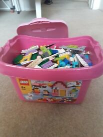 Lego Friends Assorted Bricks in Lego Storage Box