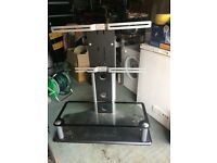 "42"" glass tv stand vgc"
