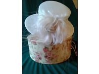 FANCY IVORY HAT for Wedding or Race.