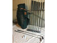 Full set of Golf Clubs. Wilson Snead Midsize Irons, chipper, putter, balls, bag, etc.
