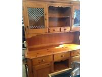 Vintage solid pine dresser