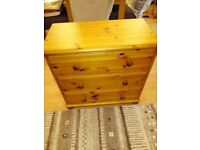 Solid pine 3 draw chest