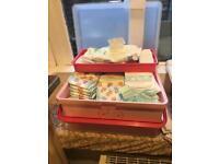 Baby girls changing box