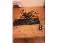 Keyboard & mouse & ethernet cable brand new.