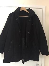 Black Warm Roman Coat Size 14