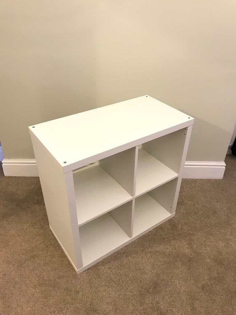 ikea kallax 2x2 square white storage unit cube kalax. Black Bedroom Furniture Sets. Home Design Ideas