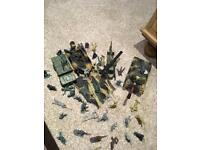 Array of army toys