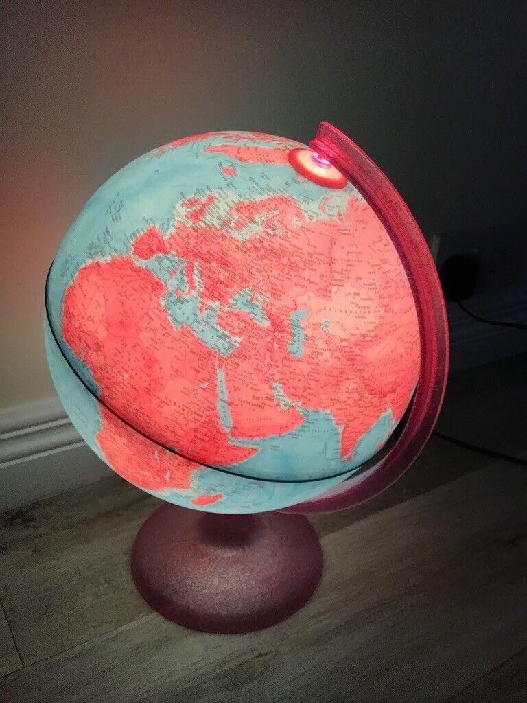Pink Globe Light