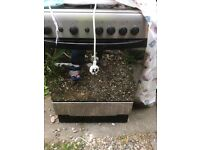 Gas hob free standing with gas oven
