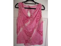 Pink evening top Size 20
