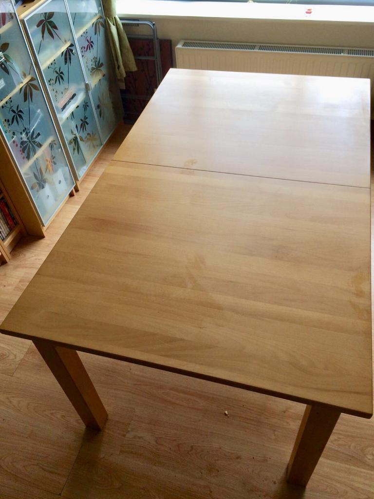 Light Beech Dining Table Extendable In Halton West Yorkshire - Extendable beech dining table