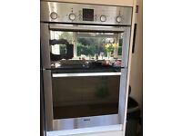 Bosch double oven in stainless steel good clean working order