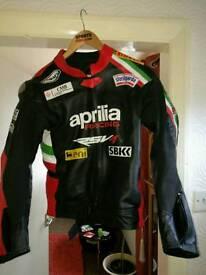 Motorbike jacket leather/full armor