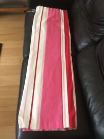 """Lovely, lined pink stripy curtains (66"""" x 54"""") - in fantastic condition!"""