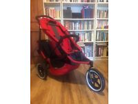 Phil and Teds Sport Red / Black Double Pushchair Buggy and Accessories
