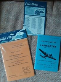 Replica Pilots notes for Lancaster and Spitfire