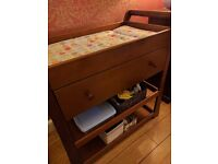 Wooden changing table with drawer - mamas and papas. Attractive & useful piece of furniture