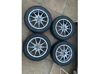 "5x100 15"" alloy wheels vw skoda seat"
